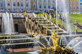 Samson Fountain and Big Cascade in Peterhof, Russia — Stock Photo