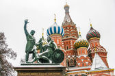 Catedral de san basilio en moscú, rusia — Foto de Stock