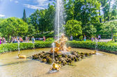Triton fountain in Peterhof — Stock Photo
