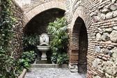 Moorish well in the alcazaba of Malaga, Andalusia Spain — Stock Photo