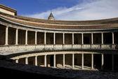 Colonnade in Palacio de Carlos V in La Alhambra, Granada, Spain. — Stock Photo