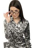 メガネの少女 — ストック写真