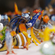 Handicraft glass decorative figures — Stock Photo