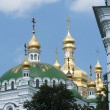 Golden domes of Kiev-Pechersk Lavra — Photo