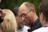 Arseniij Yatseniuk at a rally — Stock Photo