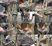 Blacksmith at work — Stock Photo