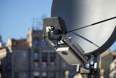 Satellite TV antenna — Stock Photo