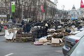 Kyiv, sokaklarında barikatlar — Stok fotoğraf