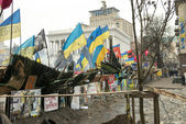 Barricades in the streets of Kyiv — Stock Photo