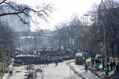 Barrikader i kiev — Stockfoto