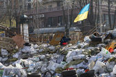 Barricades in Kiev — Stock Photo