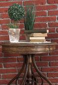 Old Book table — Stock fotografie
