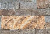 Construção de revestimento de pedra natural — Fotografia Stock