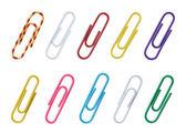 Zestaw kolorów spinacze do papieru. — Zdjęcie stockowe