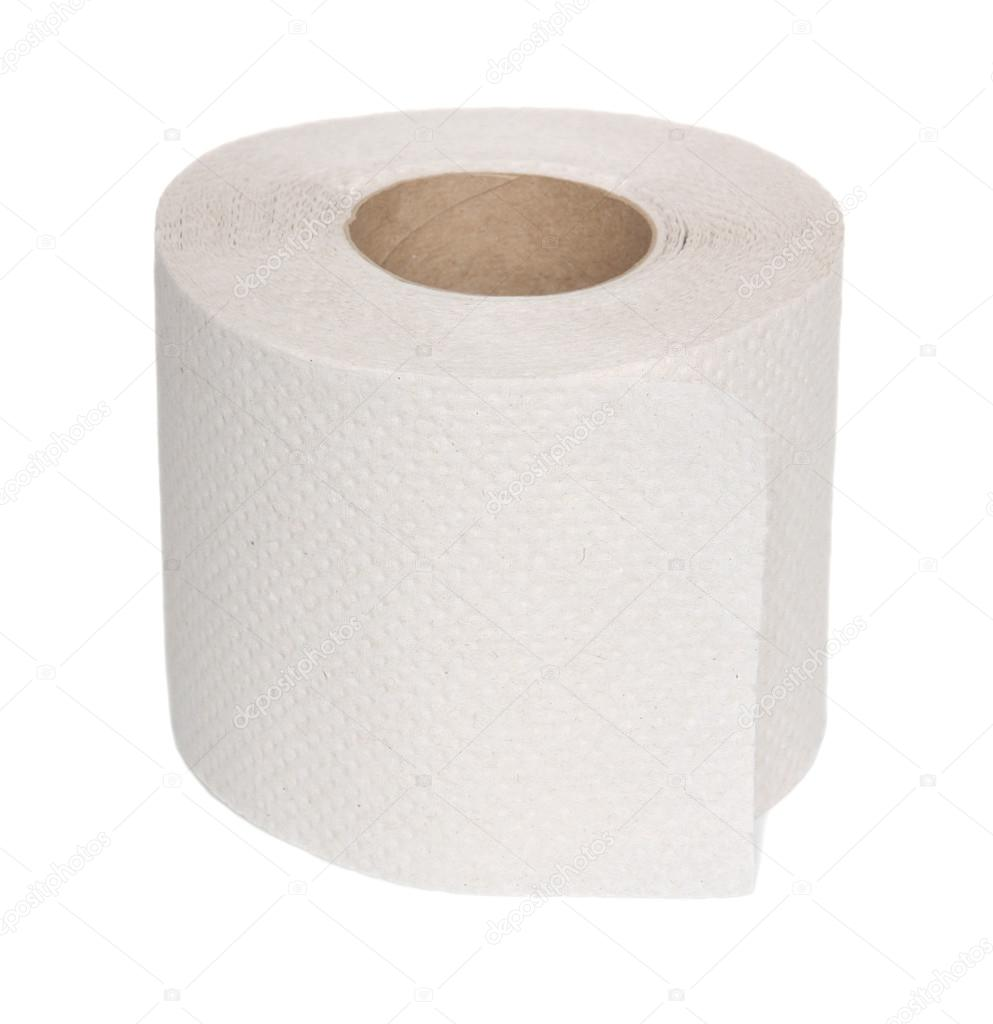 Toilet paper roll on a white background. — Stock Photo #13736554