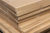 Pile of cardboard boxes. — Stock Photo