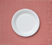 Disposable paper plate. — Stock Photo