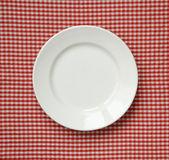 White ceramic plate. — Stock Photo