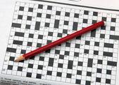 Kreuzworträtsel. — Stockfoto