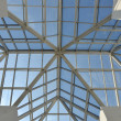 Modern glass roof. — Stock Photo