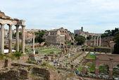 římské ruiny v římě. — Stock fotografie