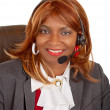 Royalty-Free Stock Photo: African American Woman Wearing Headset