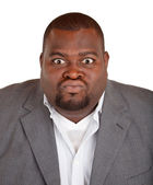 African American Businessman Angry About Something — Stock Photo