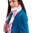 Beautiful Woman Wearing a Scarf — Stock Photo #1973612