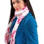 hermosa mujer que llevaba una bufanda — Foto de Stock   #1973612