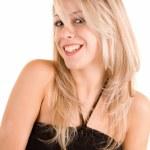 Smiling Blonde Isolated on White — Stock Photo #2399479