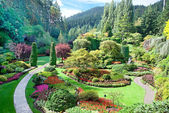 Sunken Garden at Butchart Gardens, Central Saanich, British Colu — Stock Photo