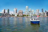 Commuter Passenger Ferry in False Creek, Vancouver, British Colu — Stock Photo