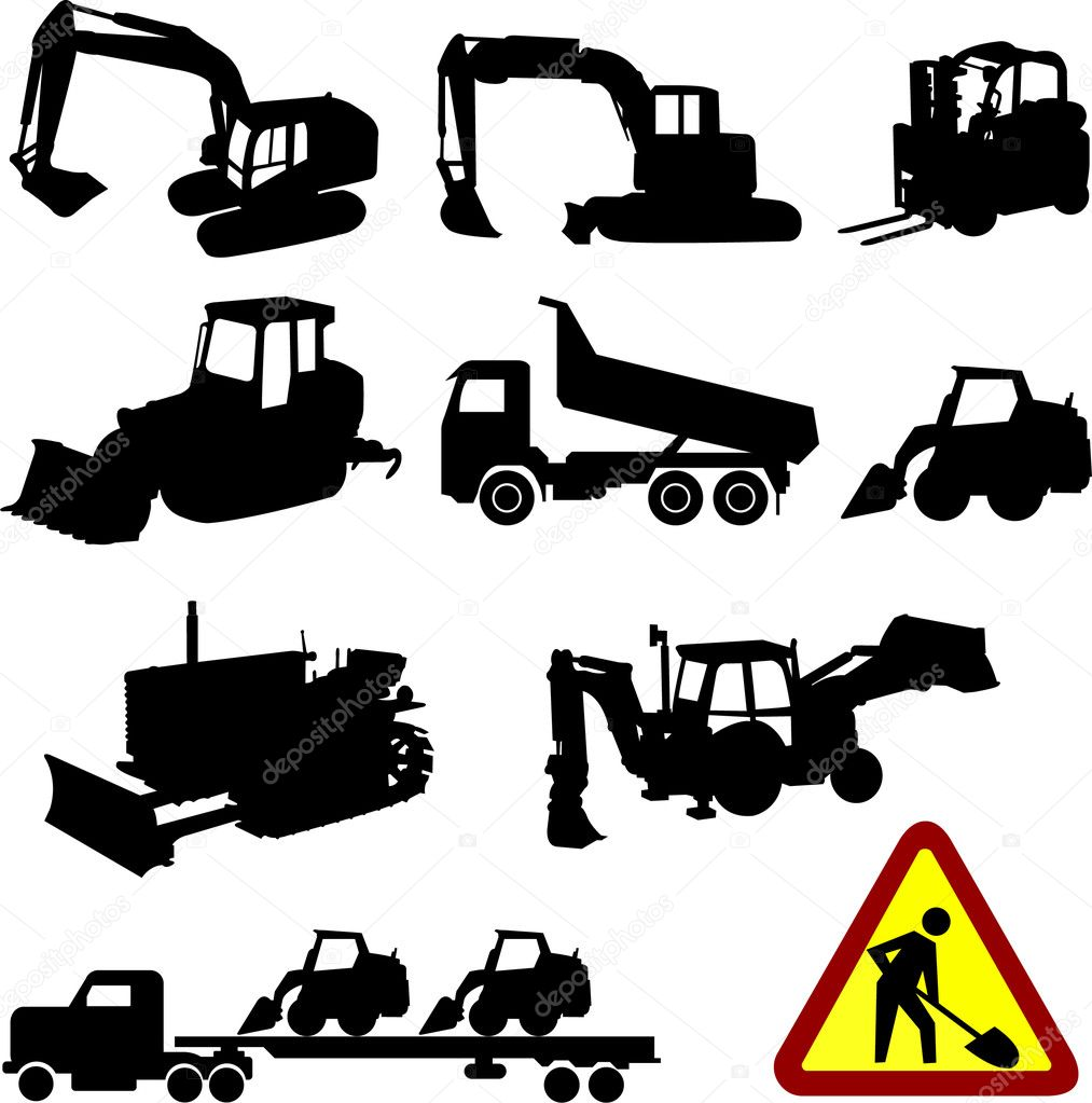 Displaying Images For - Bulldozer Silhouette...