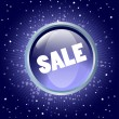 Sale button on the blue background — Image vectorielle