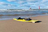 кайтбордингу на пляже — Стоковое фото