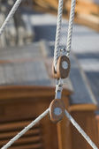 Sailing pulleys — Stock Photo