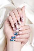 Nail art close-up — Stock Photo
