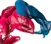 Abstract pieces of textile motion — Stock Photo