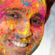 Holi Smile — Stock Photo
