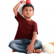 Playful Indian Kid — Stock Photo