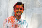 Man in Holi Colors — Stock Photo