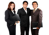 Smart Indian Business Team — Stock Photo