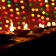 Stock Photo: Diwali Lamps