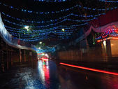 Rua festiva — Fotografia Stock