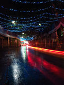 Indiska road under festival — Stockfoto