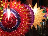красочные дивали фонари — Стоковое фото