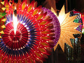 Färgglada diwali lyktor — Stockfoto
