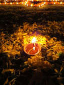 дивали ритуальные лампа — Стоковое фото