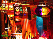 Traditional Indian lanterns for sale on the occassion of Diwali  — Photo