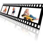Film Strip of Family Memories — Stock Photo